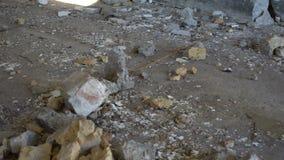儿童腿是废墟 影视素材