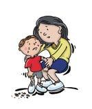 儿童膝盖痛处 免版税库存照片