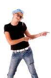 儿童舞蹈演员迪斯科女孩 免版税库存图片
