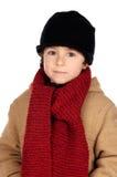 儿童英俊非常温暖 库存照片