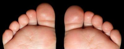 儿童英尺脚底脚趾 免版税库存照片