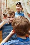 儿童表面做 库存图片