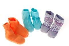 儿童袜子 免版税库存照片