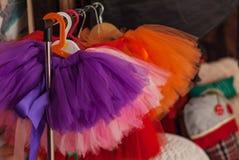 儿童裙子芭蕾舞短裙的立场 库存照片