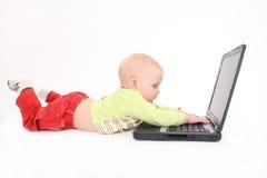 儿童计算机工作 免版税图库摄影