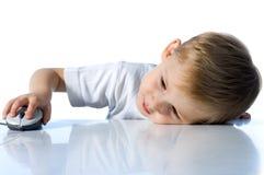 儿童计算机鼠标 免版税库存照片