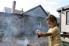 儿童调味料猪排用胡椒 库存图片