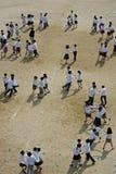 儿童跳舞 库存照片