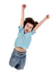 儿童跳 免版税库存照片