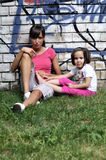 儿童运动的妇女年轻人 库存照片