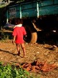 儿童运行 免版税库存照片