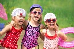 儿童逗人喜爱的夏天 免版税图库摄影