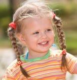 儿童逗人喜爱的头发长的本质 库存图片