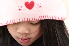 儿童逗人喜爱的帽子 免版税库存照片