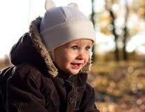 儿童逗人喜爱的快乐的纵向 免版税库存照片