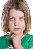 儿童逗人喜爱认为 免版税库存照片