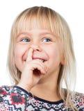 儿童采摘鼻子 库存照片