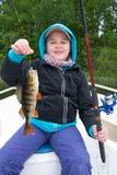 儿童钓鱼 免版税库存图片