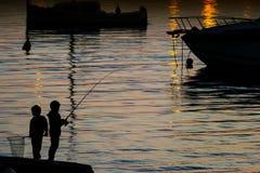 儿童钓鱼 免版税图库摄影