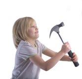 儿童锤击 免版税库存照片