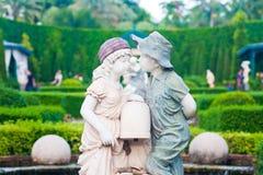 儿童雕塑 库存图片
