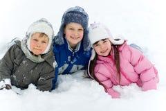 儿童雪 免版税库存照片