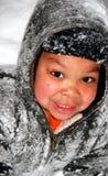 儿童雪 免版税库存图片