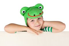 儿童青蛙 库存照片