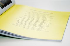 儿童页s故事书 库存照片