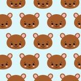 儿童题材传染媒介图象的乐趣无缝的样式纹理设计熊 皇族释放例证