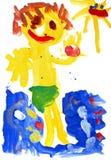 儿童颜色图画绘s水 免版税库存图片