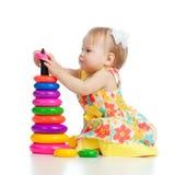 儿童颜色少许使用的俏丽的玩具 免版税库存照片