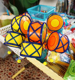 儿童颜色被绘的玩具水 免版税库存图片