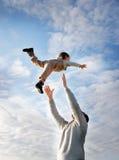 儿童飞行 免版税图库摄影