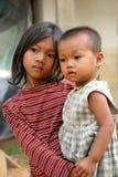 儿童饥饿的贫寒 免版税库存图片