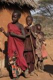 儿童马塞语 免版税库存照片