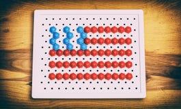 儿童马赛克美国旗子 免版税库存照片