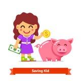 儿童财务和储款概念 免版税库存照片
