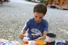 儿童绘画黏土形象 库存照片