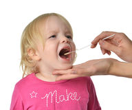 从儿童婴孩孩子mo的Salvia医疗样品生物标本 库存图片