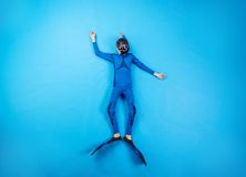儿童轻潜水员 图库摄影