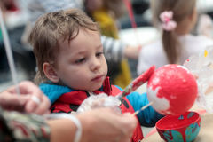 儿童绘画球 图库摄影
