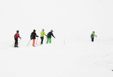 儿童滑雪 免版税库存图片