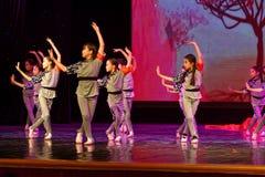 儿童` s军团北京舞蹈学院分级的测试卓著的儿童` s舞蹈教的成就陈列江西 图库摄影