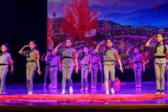 儿童` s军团北京舞蹈学院分级的测试卓著的儿童` s舞蹈教的成就陈列江西 免版税图库摄影