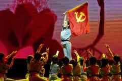 儿童` s军团北京舞蹈学院分级的测试卓著的儿童` s舞蹈教的成就陈列江西 免版税库存图片
