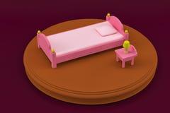 儿童` s卧室的卧室家具 免版税库存图片