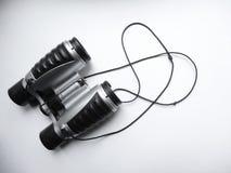 儿童` s双筒望远镜由塑料制成 免版税库存图片