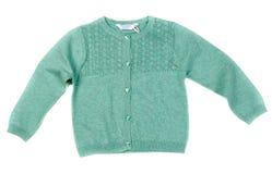 儿童` s毛线衣 在白色的孤立 图库摄影