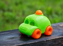 儿童` s玩具机器 免版税库存照片